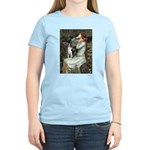 Ophelia & Boston Terrier Women's Light T-Shirt