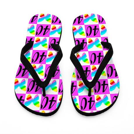 PRECIOUS 40TH Flip Flops