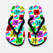40TH LOVE Flip Flops