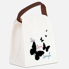 Live Love Laugh Canvas Lunch Bag