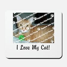 CUSTOMIZE Add Photo Love Cat Mousepad