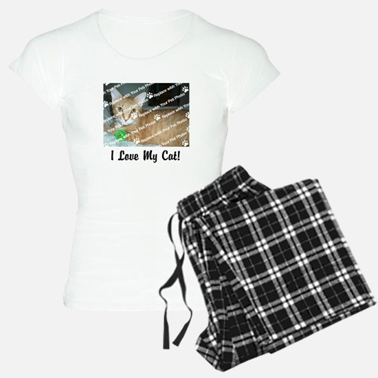CUSTOMIZE Add Photo Love Cat pajamas