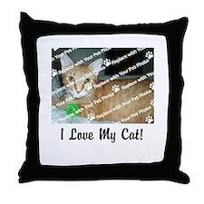 CUSTOMIZE Add Photo Love Cat Throw Pillow