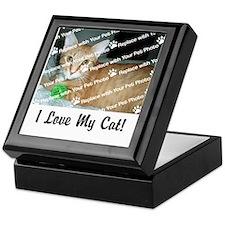 CUSTOMIZE Add Photo Love Cat Keepsake Box