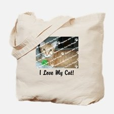 CUSTOMIZE Add Photo Love Cat Tote Bag