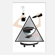 All Seeing Skter Postcards (Package of 8)