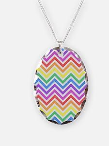 Pretty, cool, modern rainbow c Necklace