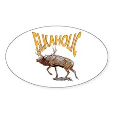 Elkaholic Oval Decal