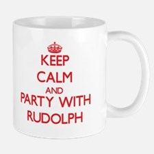 Keep Calm and Party with Rudolph Mugs