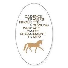 dressage speak Oval Decal