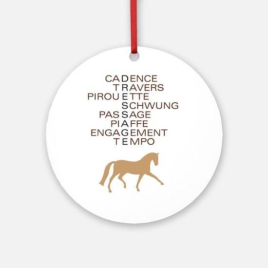 dressage speak Ornament (Round)