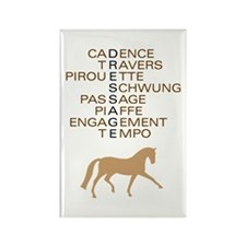 dressage speak Rectangle Magnet