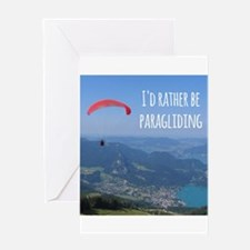 Id Rather Be Paragliding Greeting Cards