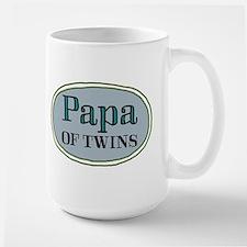 Papa OF TWINS Mugs