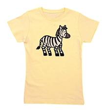 Cartoon Zebra Girl's Tee