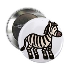 "Cartoon Zebra 2.25"" Button"