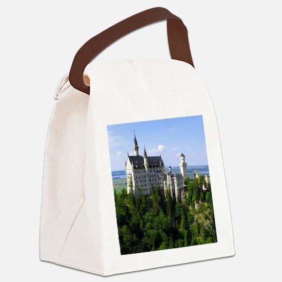 Neuschwanstein Castle Canvas Lunch Bag