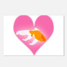 Goldfish Love Postcards (Package of 8)