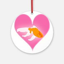Goldfish Love Ornament (Round)