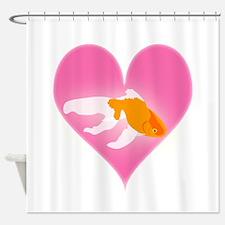 Goldfish Love Shower Curtain