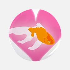 "Goldfish Love 3.5"" Button"