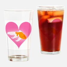 Goldfish Love Drinking Glass