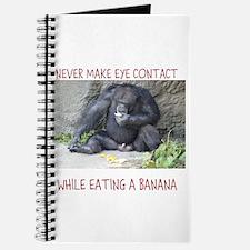 Monkey eating a banana Journal