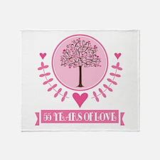 55th Anniversary Love Tree Throw Blanket