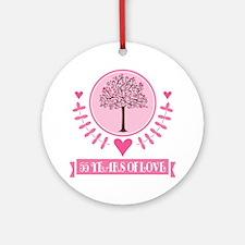 55th Anniversary Love Tree Ornament (Round)