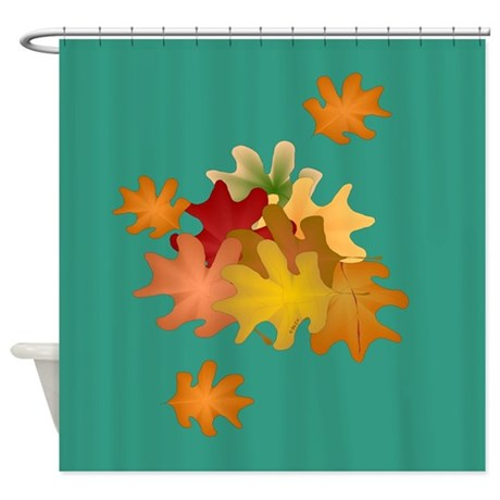 Fall Leaves Shower Curtain By Ellejai