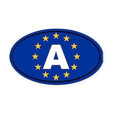 Austria European Union Oval Car Magnet