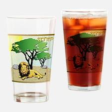 12 Tribes Israel Judah Drinking Glass