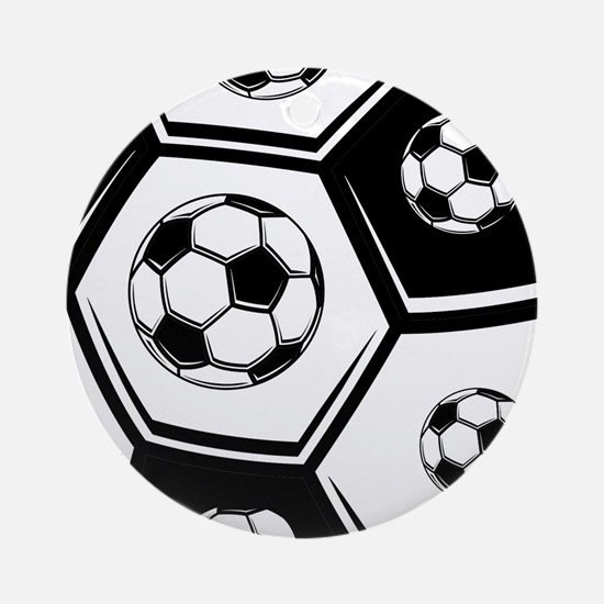 Love Soccer Ornament (Round)