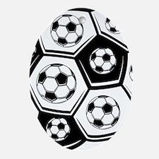 Love Soccer Ornament (Oval)