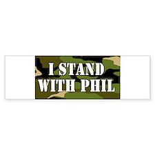 CAMO I Stand With Phil (robertson) Bumper Bumper Sticker
