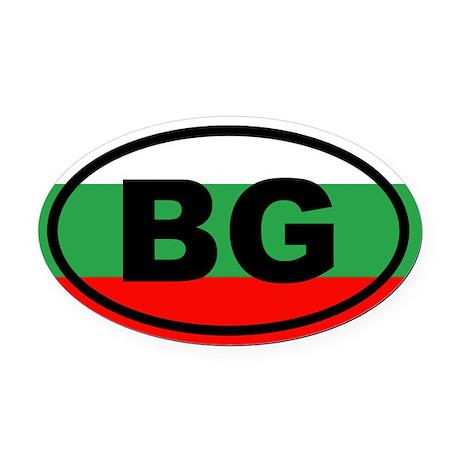 Bulgaria Flag Oval Car Magnet