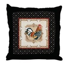 Vintage Rooster Country French Watercolor Black Th