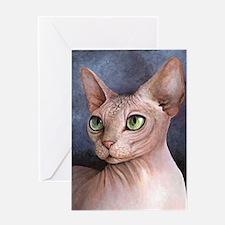 Cat 578 Sphynx Greeting Cards