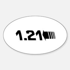 1.21 Gigawatts Back To The Future Sticker (Oval)