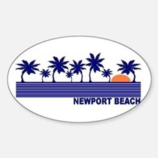 Newport Beach, California Oval Decal