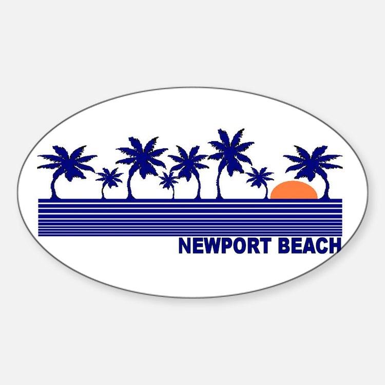 Newport Beach, California Oval Decal