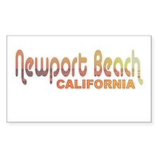 Newport Beach, California Rectangle Decal