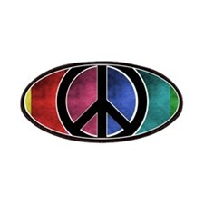 Rainbow Peace Patches