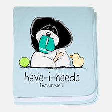 Have-i-Needs Havanese baby blanket