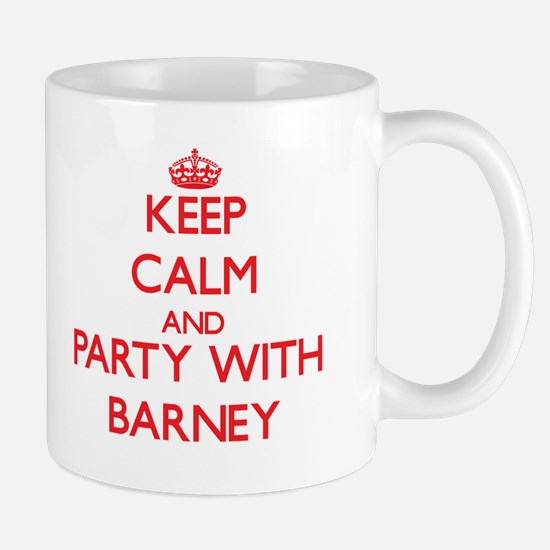 Keep Calm and Party with Barney Mugs