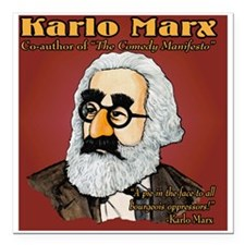 "Karlo Marx Square Car Magnet 3"" x 3"""