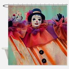 Clown of Venetian Carnival Shower Curtain
