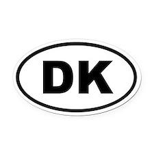 Denmark DK Oval Car Magnet