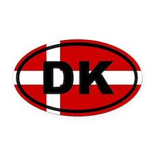 Denmark flag Oval Car Magnet