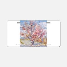 Van Gogh Peach Trees in Blossom Aluminum License P